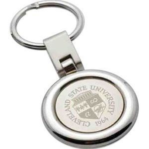 Personalized Round Silver Key Tags