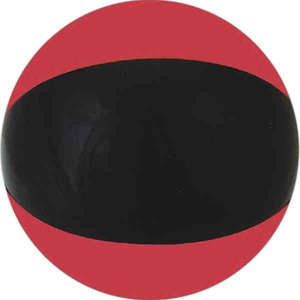 Alternating Color Beach Balls - Ruby Red and Black Beach Balls
