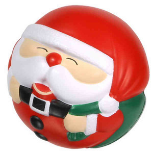 Custom Imprinted Santa Cow Stress Ball Squeezies
