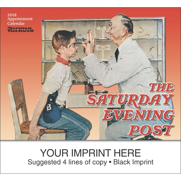 Custom Imprinted Big Block Memo Saturday Evening Post Appointment Calendars