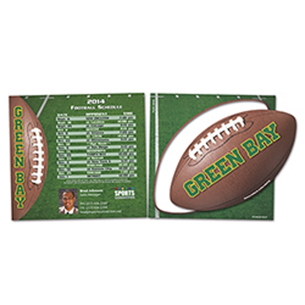 Custom Printed Canadian Manufactured Football Stock Shaped Magnets