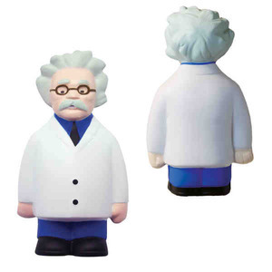 Custom Imprinted Scientist Shaped Stress Relievers!