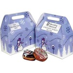 Custom Printed Seasons Greetings Design  Donut Boxes!
