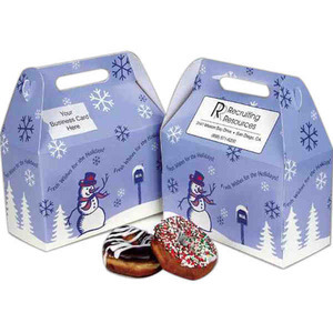 Donut Boxes - Seasons Greetings Design Donut Boxes