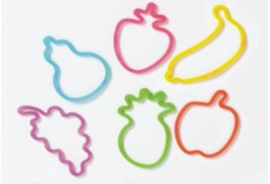 Stock Shaped Silly Bands -
