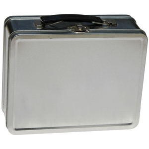 Lunch Boxes - Silver Retro Lunch Boxes