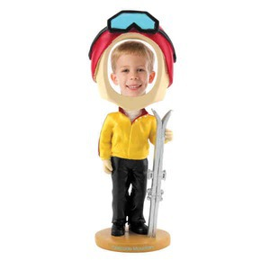 Bobble Head Picture Frames - Skier Bobble Head Picture Frames