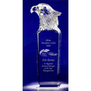Custom Printed Skymaster Eagle Crystal Awards!