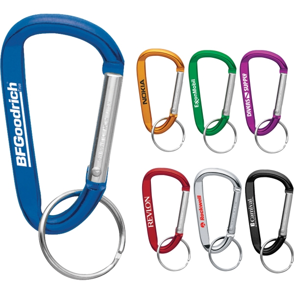 Custom Printed 1 Day Service 6mm Carabiners!