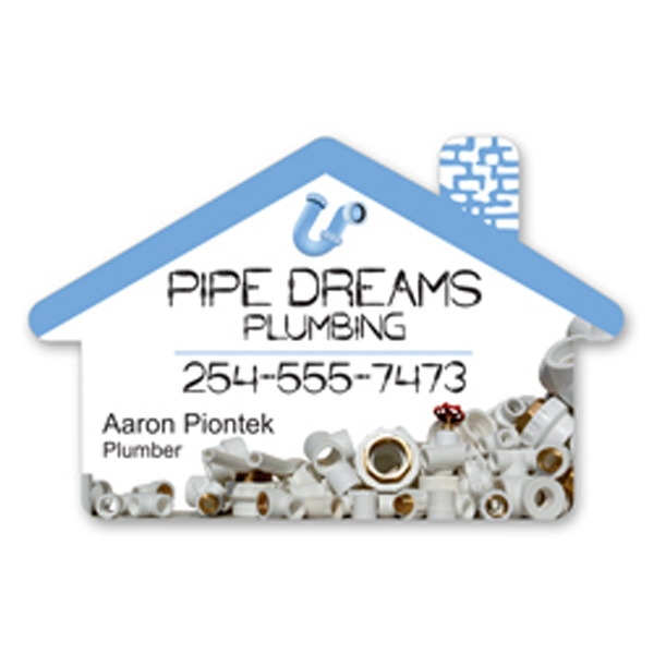 Custom Decorated Canadian Manufactured House Card Stock Shaped Magnets