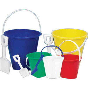 Buckets - Small Sand Buckets With A Shovel