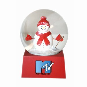 Stock Snow Globes - Snow Man Shaped Stock Snow Globes