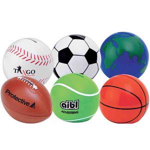 Custom Imprinted Soccer Ball Banks!