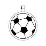 Custom Printed Soccer Ball Key Tag!