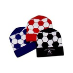 Custom Printed Soccer Ball Knit Hats!