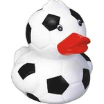 Custom Printed Soccer Ball Rubber Ducky!