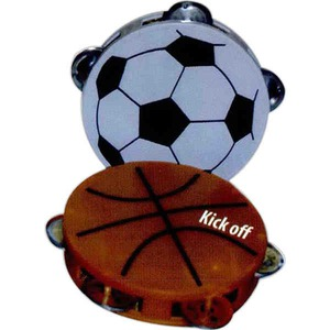 Soccer Promotional Items - Soccer Ball Tambourines