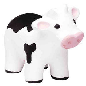 Custom Imprinted Soccer Cow Stressball Squeezies