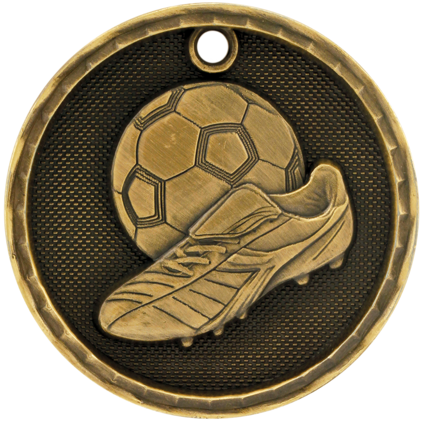 Custom Decorated 3-D Soccer Medals!