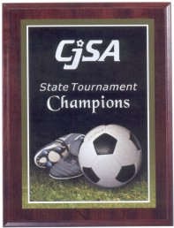 Custom Imprinted Soccer Photo Sport Plaques