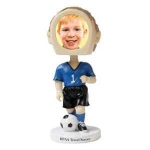 Bobble Head Picture Frames - Soccer Player Bobble Head Picture Frames
