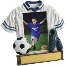 Custom Imprinted Soccer Resin Picture Frames