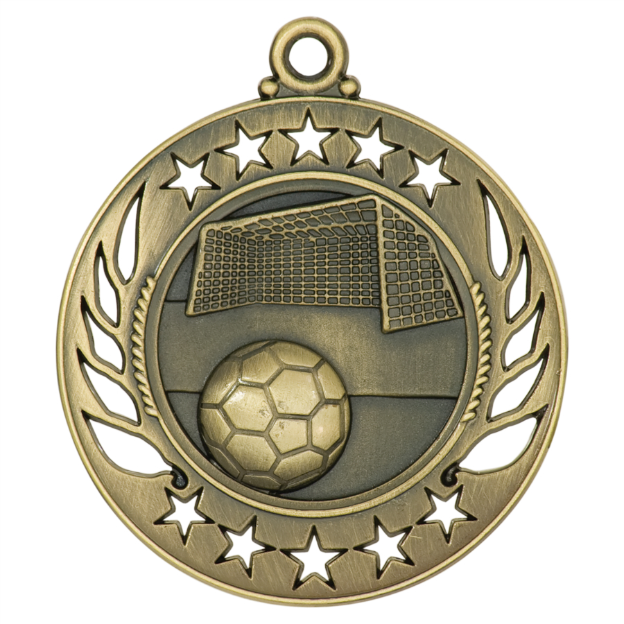 Custom Made Soccer Ten Star Medals!