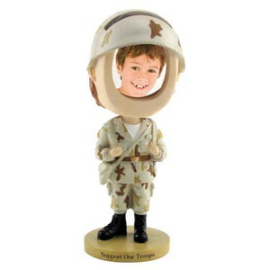 934449e5d6 Soldier Bobble Head Picture Frames - Custom Imprinted Promotional ...