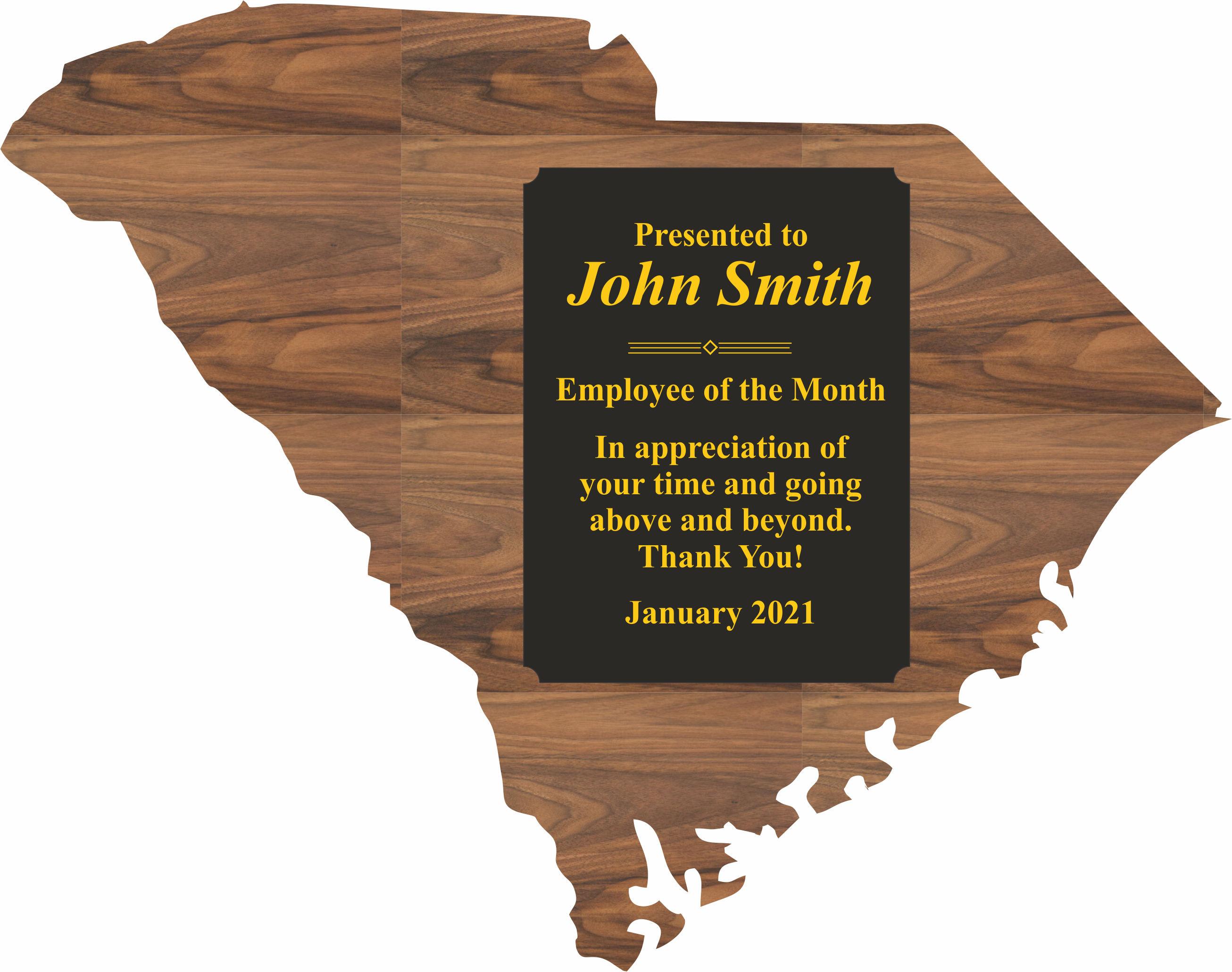 South Carolina State Shaped Promotional Items -