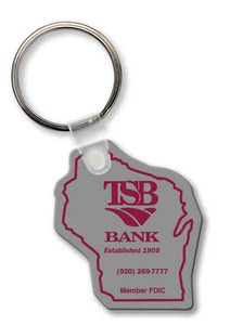 Custom Imprinted South Dakota State Shaped Key Tags