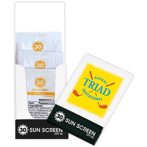 Custom Designed Specially Priced Sunblock Packets