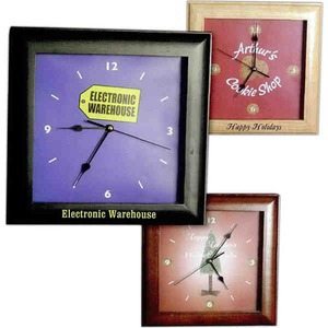 Square Shaped Promotional Items - Square Wall Clocks