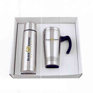 Stainless Steel Combination Travel Mug Sets -