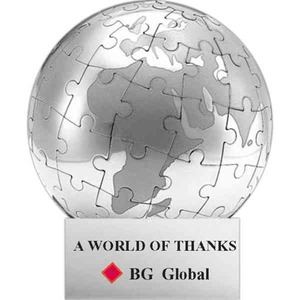 Globe and Earth Promotional Items - Stainless Steel Globe Shaped Puzzles