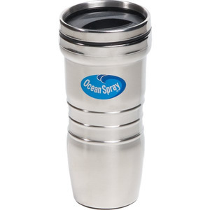 Stainless Steel Medallion Travel Mugs -