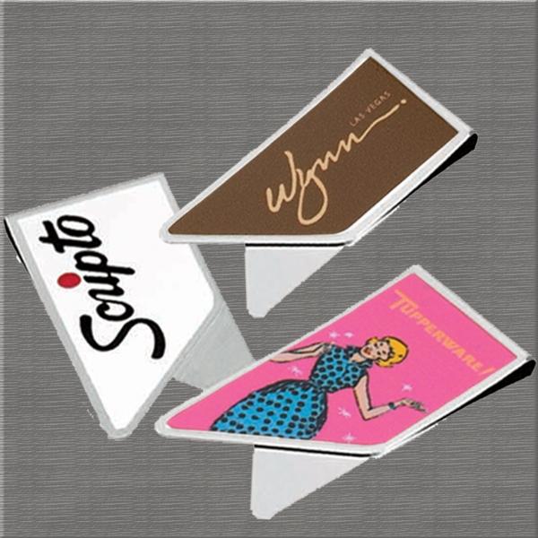 Custom Imprinted Stainless Steel Keepaklip Paperclips!