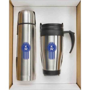Custom Imprinted Stainless Steel Trip Mug and Thermos Sets