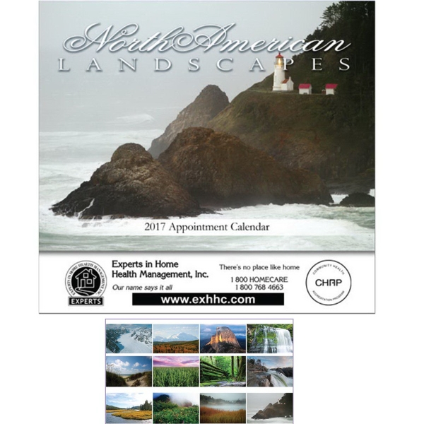 Custom Imprinted Beautiful America Executive Calendars