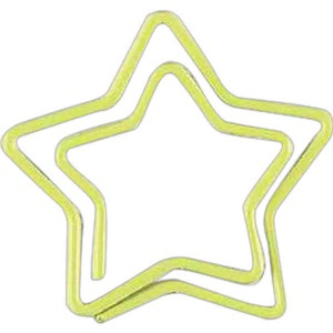 Custom Imprinted Star Bent Shaped Paperclips in Zip Pouches