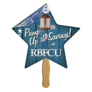 Star Shaped Promotional Items - Star Shaped Paper Fans