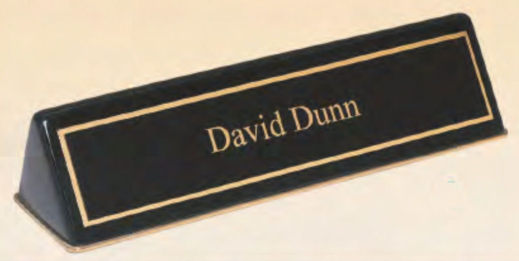 Customized Black Piano Desk Nameplate Holders!