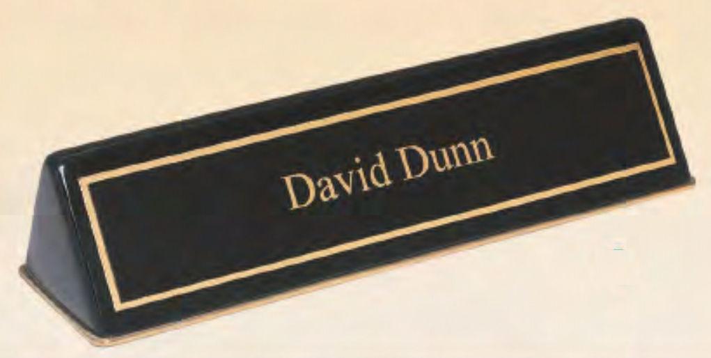 Desk Nameplate Holders -