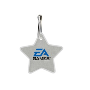 Star Shaped Promotional Items - Star Shaped Zipper Pulls