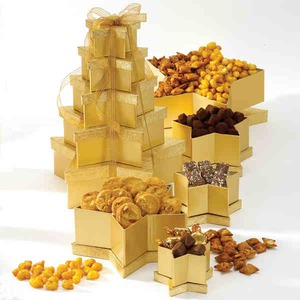 Custom Decorated Star Towers Food Gifts!