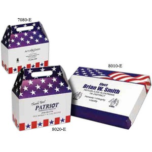 Donut Boxes - Stars and Stripes Patriotic Flat Donut Boxes