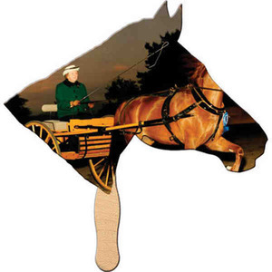 Stock Shaped Paper Fans - Horse Stock Shaped Paper Fans