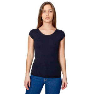 Custom Imprinted American Apparel Stretch Cotton Aerobic Top For Women
