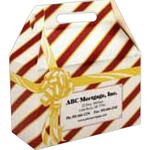 Custom Designed Striped Gift Wrapped Design  Donut Boxes!