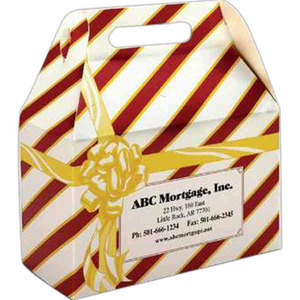 Donut Boxes - Striped Gift Wrapped Design Donut Boxes