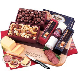 Custom Made Tailgator Party Non Perishable Cheese and Sausage Food Gifts